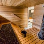 Rintamamiestalon kellariin remontoitu sauna ja kylpyhuone