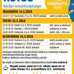 Kevään remonttinäyttelyt 14.-16.5.2018